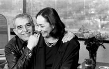 Gabriel García Márquez con su esposa Mercedes Barcha.