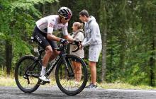 Egan Bernal durante una etapa del Criterium du Dauphiné.