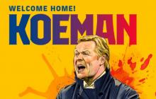 Ronald Koeman fue presentado como nuevo director técnico del Barcelona.
