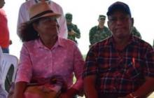 El alcalde Eduardo Polo Mendoza y su esposa Vilma Solano.