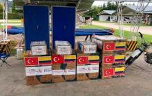 Colombia recibe equipos médicos donados por Turquía