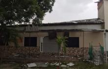 Vendaval y fuertes lluvias causan daños en Santo Tomás y Soledad