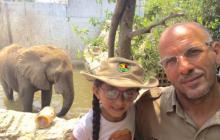 Samia hace algunos años en el Zoológico.