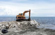 Construyen espolones para frenar la  erosión costera en Ciénaga, Magdalena