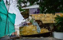 Obras de construcción socavaron casa en el norte de Barranquilla