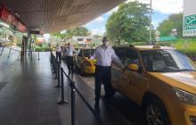 En video | Simulacro de servicios de taxis en el aeropuerto de Cartagena