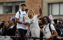 Adriana Lucía es uno de los símbolos de la movilización social en Colombia.