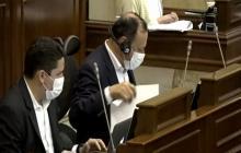 Durante el debate en la plenaria de la Cámara de Representantes.