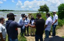Comienzan estudios y diseños para obras contra la erosión en Magangué