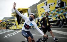 Egan Bernal terminó cuarto en la novena etapa del Tour de Francia.
