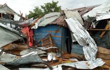 Vientos causan destrozos en viviendas del sur de Córdoba