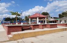 Aspecto de la plaza principal de Repelón.