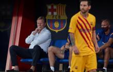 Ronald Koeman dirigió su primer partido con el FC Barcelona.