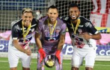 Teófilo Gutiérrez, Sebastián Viera y Miguel Ángel Borja, los tres referentes del Junior.