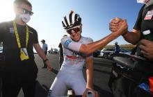 El esloveno Tadej Pogacar se impuso en la cima del Grand Colombier en la decimoquinta etapa del Tour de Francia.