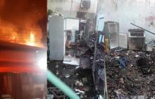 En video | Incendio destruye seis casas en San Roque