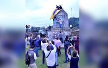 Mincultura rechaza derribo de estatua de Belalcázar
