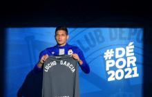 Lucho García en su presentación con el Deportivo.