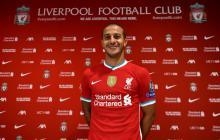 Thiago vistió este viernes la camiseta del Liverpool.