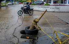Se incrementa en Barranquilla el robo de tapas de manjoles