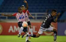 Independiente del Valle en el duelo frente a Junior.