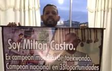 Milton Castro se encuentra en Bogotá exigiendo su reconocimiento ante el COC.
