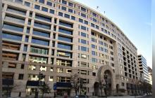 Fachada del edificio del Banco Interamericano de Desarrollo (BID) en EE. UU.