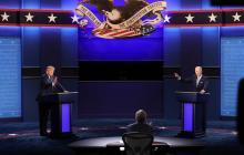 En video | Insultos y caos protagonizaron primer debate entre Trump y Biden
