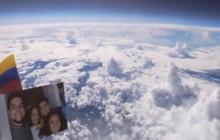 Colombiano envió un globo con cámara al espacio y capturó imágenes únicas