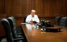 """""""No me sentía muy bien, pero ahora me encuentro mucho mejor"""": Trump"""