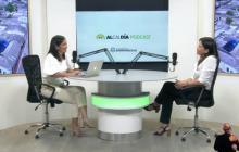 La secretaria de cultura, María Teresa Fernández, durante su intervención en el programa institucional de la Alcaldía de Barranquilla.
