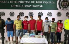 Los señalados integrantes de la banda delincuencial 'El Milagro'.