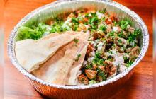 'Platter lamb over rice', un deleite mediterráneo