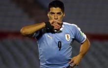 Luis Suárez marcó gol en la victoria 2-1 de Uruguay ante Chile, por eliminatorias.