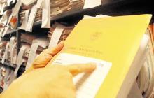 Vista de uno de los archivos existentes en uno de los 11 juzgados penales del Circuito de Barranquilla.