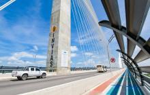 Aspecto del nuevo puente Pumarejo.