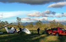 Accidente de avioneta en Cundinamarca deja tres muertos y un bebé herido