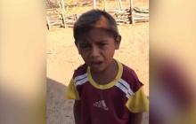 En video   El niño wayuu que emocionó a Falcao