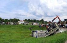 Grave accidente por tractomula que se volcó en la vía a Sabanagrande