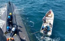 En video | Armada rescata a dos pescadores a la deriva en Cartagena
