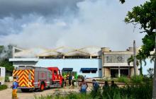 Incendio consume parte de las instalaciones del antiguo Metrotránsito