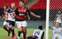 Matheus Thuler aprovechó el descuido de Dany Rosero en un tiro de esquina y marcó el primer gol.