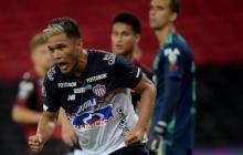 Teófilo Gutiérrez celebra el tanto que anotó en el Maracaná al Flamengo.