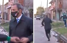 En video   Mientras hablaba de inseguridad, periodista fue robado en vivo