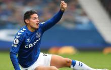 James Rodríguez, baja en el Everton por lesión