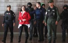 Aida Merlano asiste a una audiencia en Caracas, el 6 de febrero de 2020.