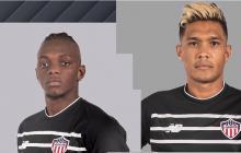 Edwuin Cetré y Teófilo Gutiérrez luciendo el nuevo tercer uniforme.