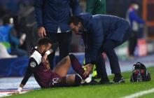 El delantero brasileño salió lesionado en el último duelo de Champions League.