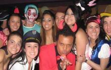 Luis Andrés Colmenares en una fiesta de disfraces horas antes del fatal suceso  el 31 de octubre de 2010.