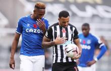 El Everton, sin James y con Yerry Mina, cae contra el Newcastle